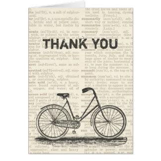 Gracias página del diccionario de Brown de la bici Tarjeta Pequeña