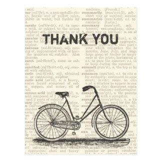 Gracias página del diccionario de Brown de la bici Postales