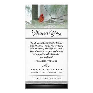 Gracias pájaro cardinal que las palabras no pueden tarjetas fotográficas personalizadas