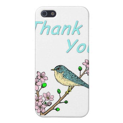 Gracias pájaro en el miembro iPhone 5 carcasa