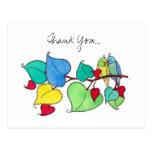 Gracias, pájaros del amor II Postal