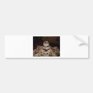 Gracias pastel de bodas etiqueta de parachoque