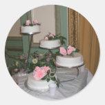 Gracias pastel de bodas pegatina