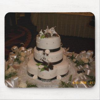 Gracias pastel de bodas tapete de ratones
