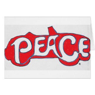 Gracias paz del ~ tarjeta pequeña