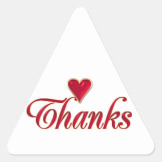 Gracias Calcomanía De Trianguladas