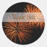 Gracias pegatina de los fuegos artificiales