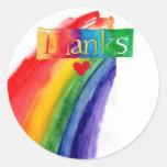 gracias pegatina del arco iris