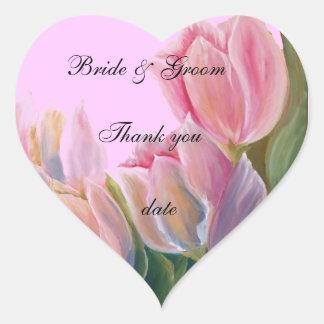 gracias pegatina del boda