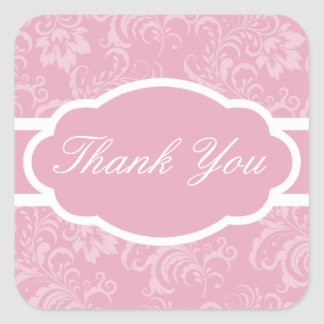 Gracias pegatina (el rosa de color de malva