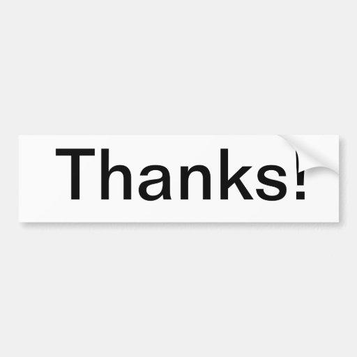 ¡Gracias! Pegatina para el parachoques Pegatina De Parachoque
