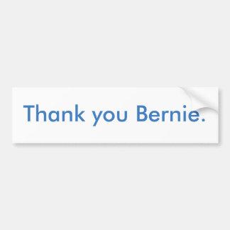 Gracias pegatina para el parachoques de Bernie Pegatina Para Auto