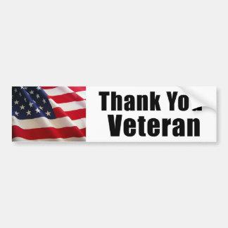 Gracias pegatina para el parachoques del veterano pegatina para auto