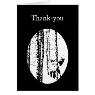 Gracias pequeño animal lindo del Fox del bosque Tarjeta De Felicitación