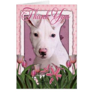 Gracias - perrito de Pitbull - Petey Tarjeta De Felicitación