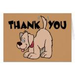 Gracias perro de la cola del ~ que menea tarjeta