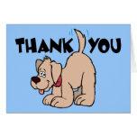 Gracias perro de la cola del ~ que menea felicitacion
