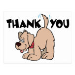 Gracias perro de la cola del ~ que menea tarjeta postal