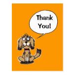 ¡Gracias! (perro divertido) Tarjeta Postal
