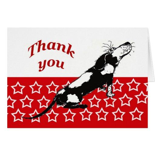 Gracias, perro tarjetón