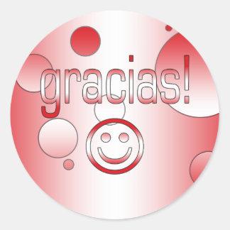 Gracias! Peru Flag Colors Pop Art Classic Round Sticker