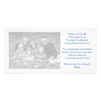 Gracias photocard del bebé tarjetas fotograficas personalizadas