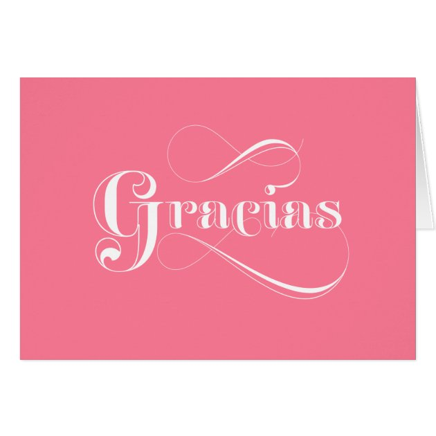 Gracias Pink Spanish thank you cards | Zazzle