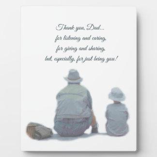 Gracias placa del papá