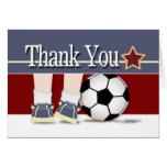 Gracias plantilla de la tarjeta del fútbol