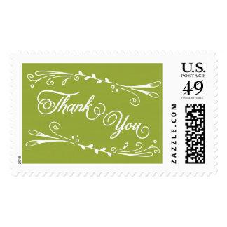 Gracias plantilla del sello del verde verde oliva