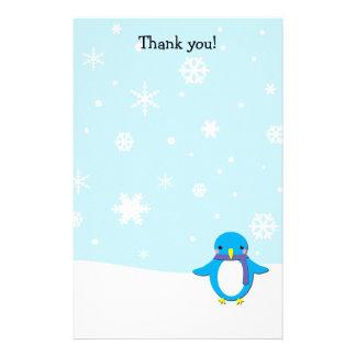 Gracias pone letras al navidad del pingüino papeleria de diseño