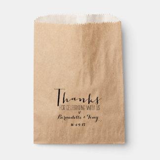 ¡Gracias por celebrar con nosotros! Favor elegante Bolsas De Recuerdo