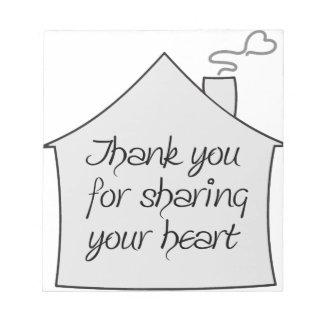 Gracias por compartir bloc de notas