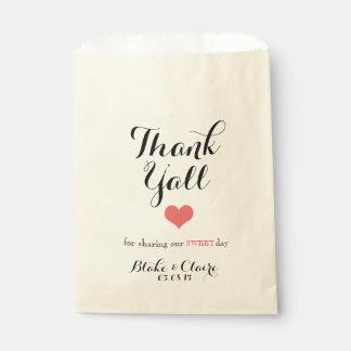Gracias por compartir nuestro día dulce bolsas de recuerdo