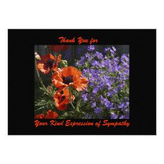 Gracias por condolencia amapolas de las flores de