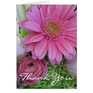 Gracias por cuidado-Floral médico/personalícelo Felicitacion
