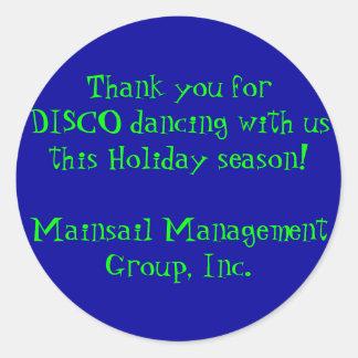 Gracias por el baile del DISCO con nosotros este Pegatina Redonda