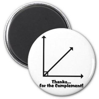 gracias por el complemento imán redondo 5 cm