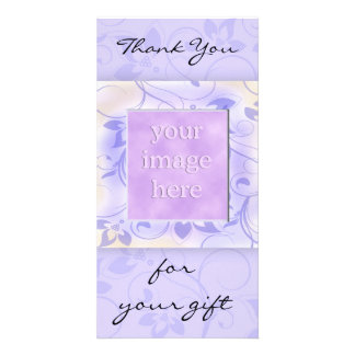 Gracias por el regalo - lavanda plantilla para tarjeta de foto