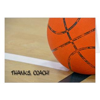 Gracias por entrenador de béisbol tarjeta de felicitación