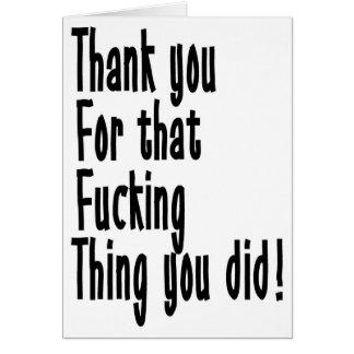 Gracias por ése…. tarjeta de felicitación