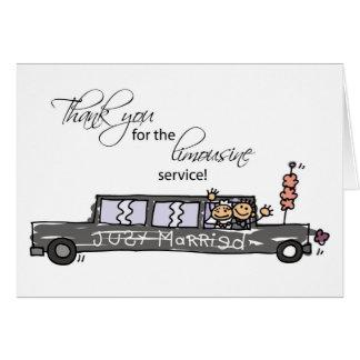 Gracias por figuras del palillo del boda del tarjeta de felicitación