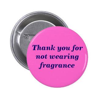 Gracias por fragancia que no lleva pin redondo de 2 pulgadas