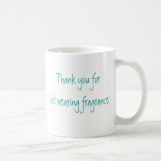 Gracias por fragancia que no lleva tazas de café