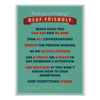 Gracias por guardarlo amistoso sordo. un poster