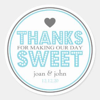 Gracias por hacer nuestro dulce del día (azul/gris