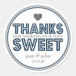 Gracias por hacer nuestro dulce del día (azul etiqueta redonda