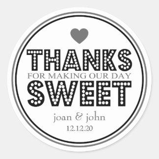 Gracias por hacer nuestro dulce del día negro gri