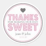 Gracias por hacer nuestro dulce del día pegatina redonda