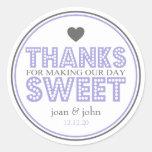Gracias por hacer nuestro dulce del día (púrpura/g etiqueta